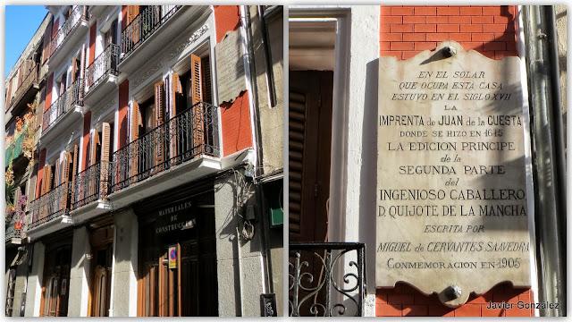 Imprenta de la segunda parte del Quijote en Madrid