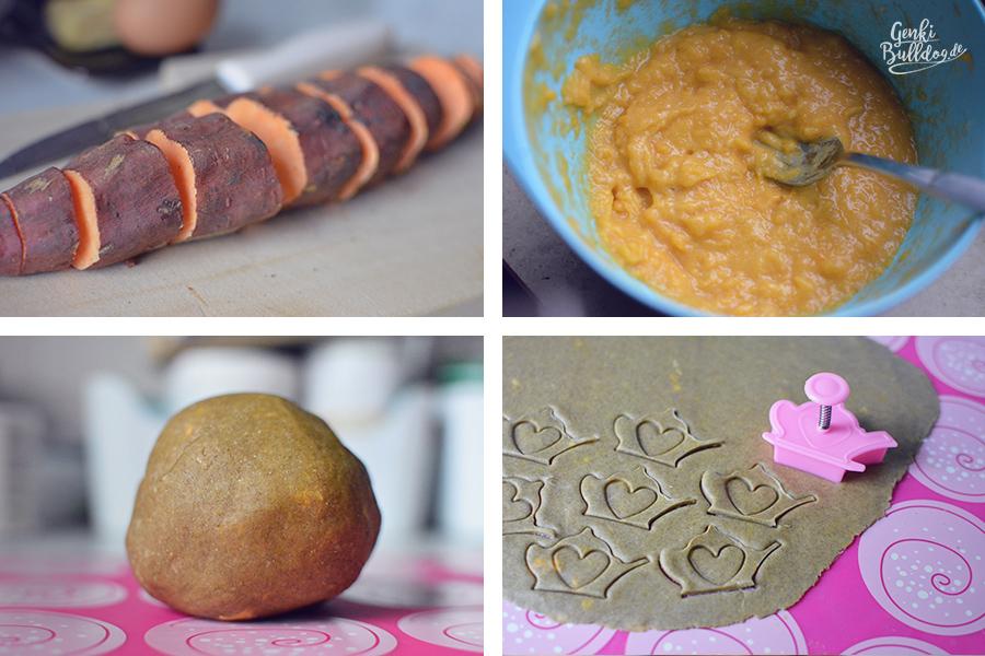 Rezept Süßkartoffelkekse für Hunde Hundekekse selbst backen