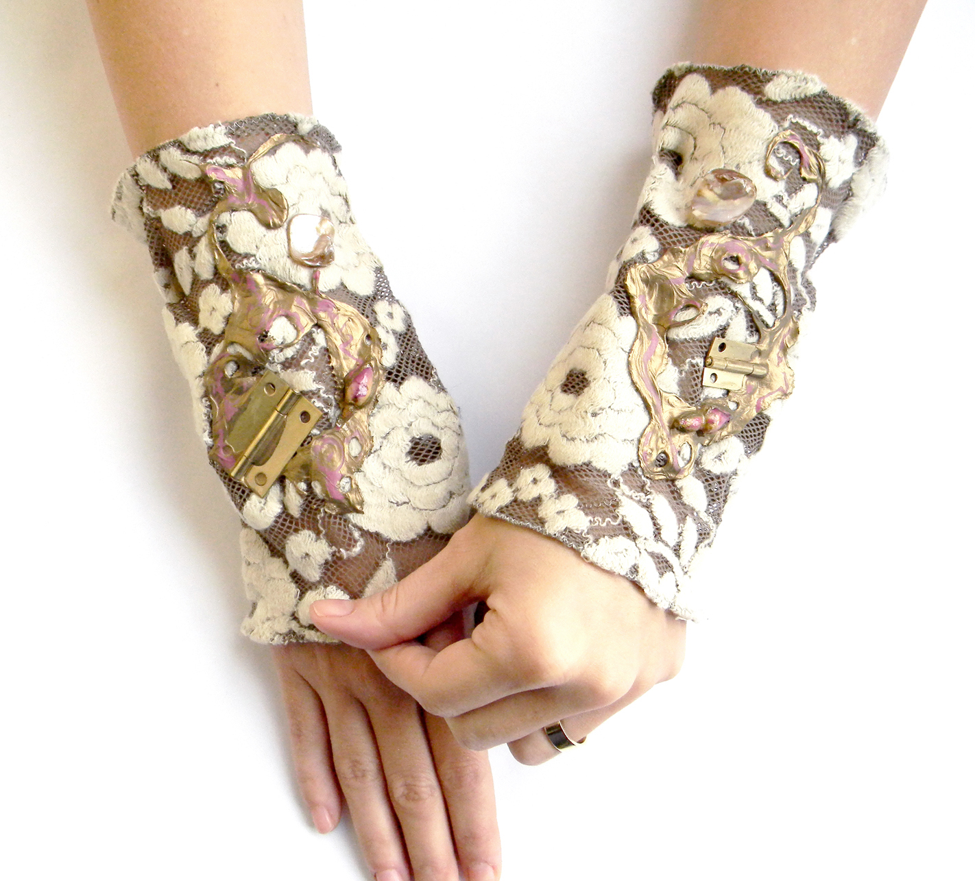 Unique Fashion Steampunk Cuffs Handmade Accessories