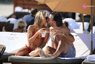 Sylvie Meis Super  fit  body in tiny red bikini WOW Beach Side  Pics Celebs.in Exclusive 021