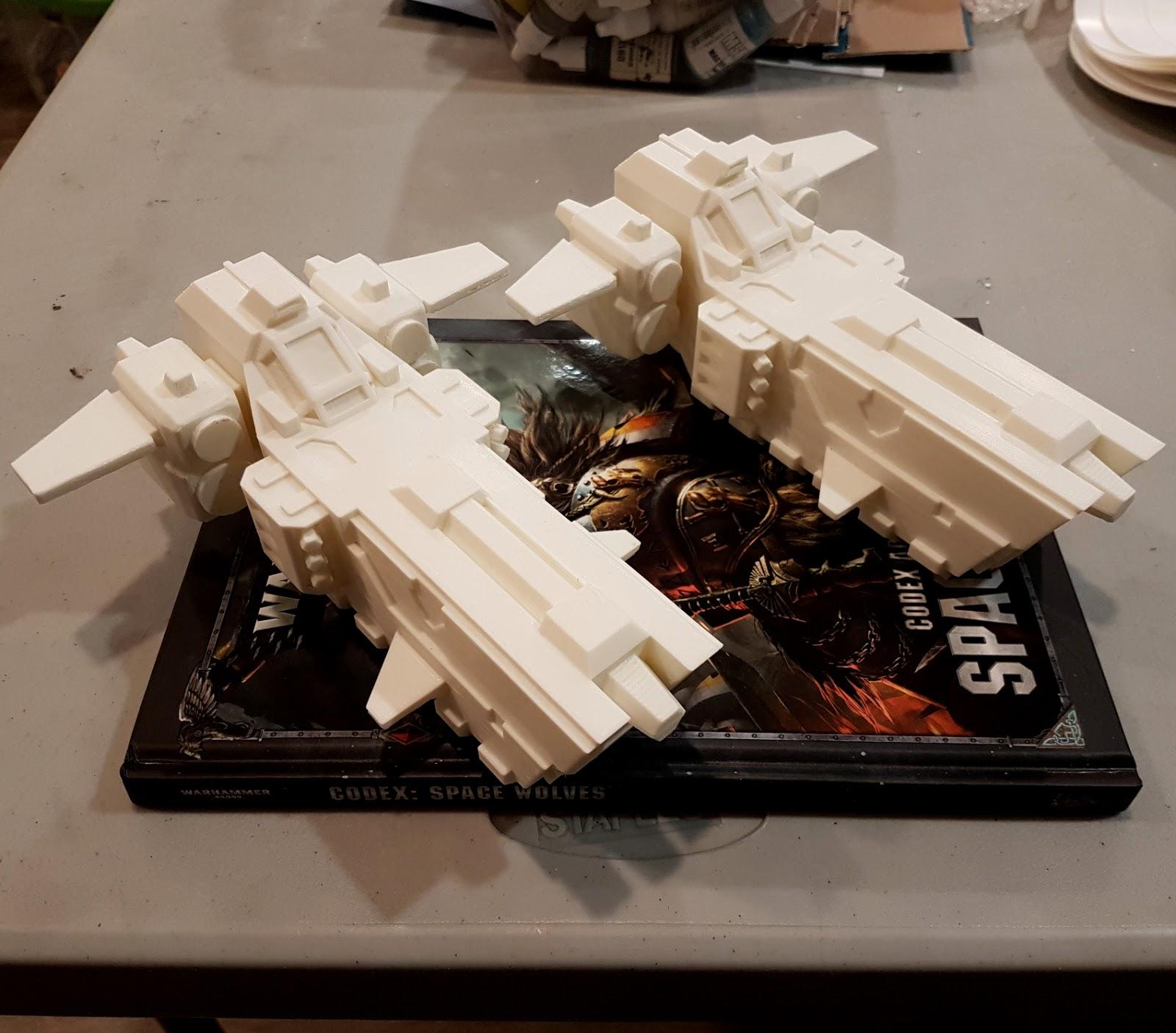 3D Printed Space Wolf Stormfangs - Jade Gaming News