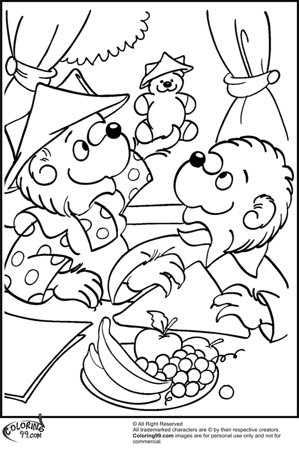 Berenstain Bears Christmas Coloring Pages