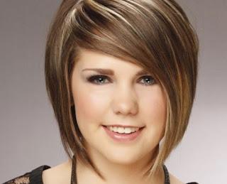 model rambut untuk orang gemuk dan wajah bulat