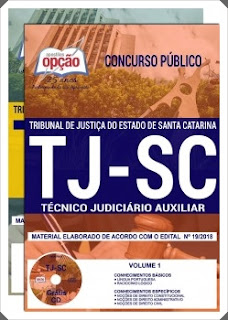 Apostila TJ Santa Catarina 2018 Técnico Judiciário Auxiliar.