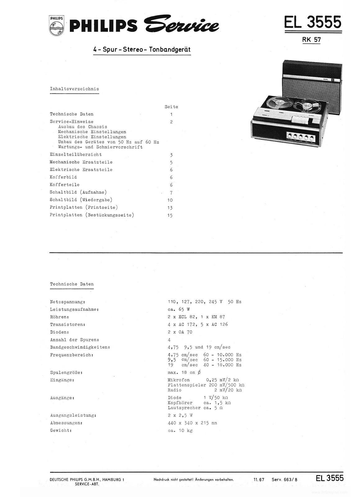 Os rádios do Claudino: Gravador Philips modelo EL3555A-00