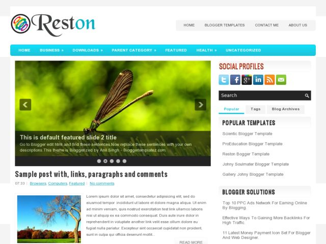 Reston Blogger Template