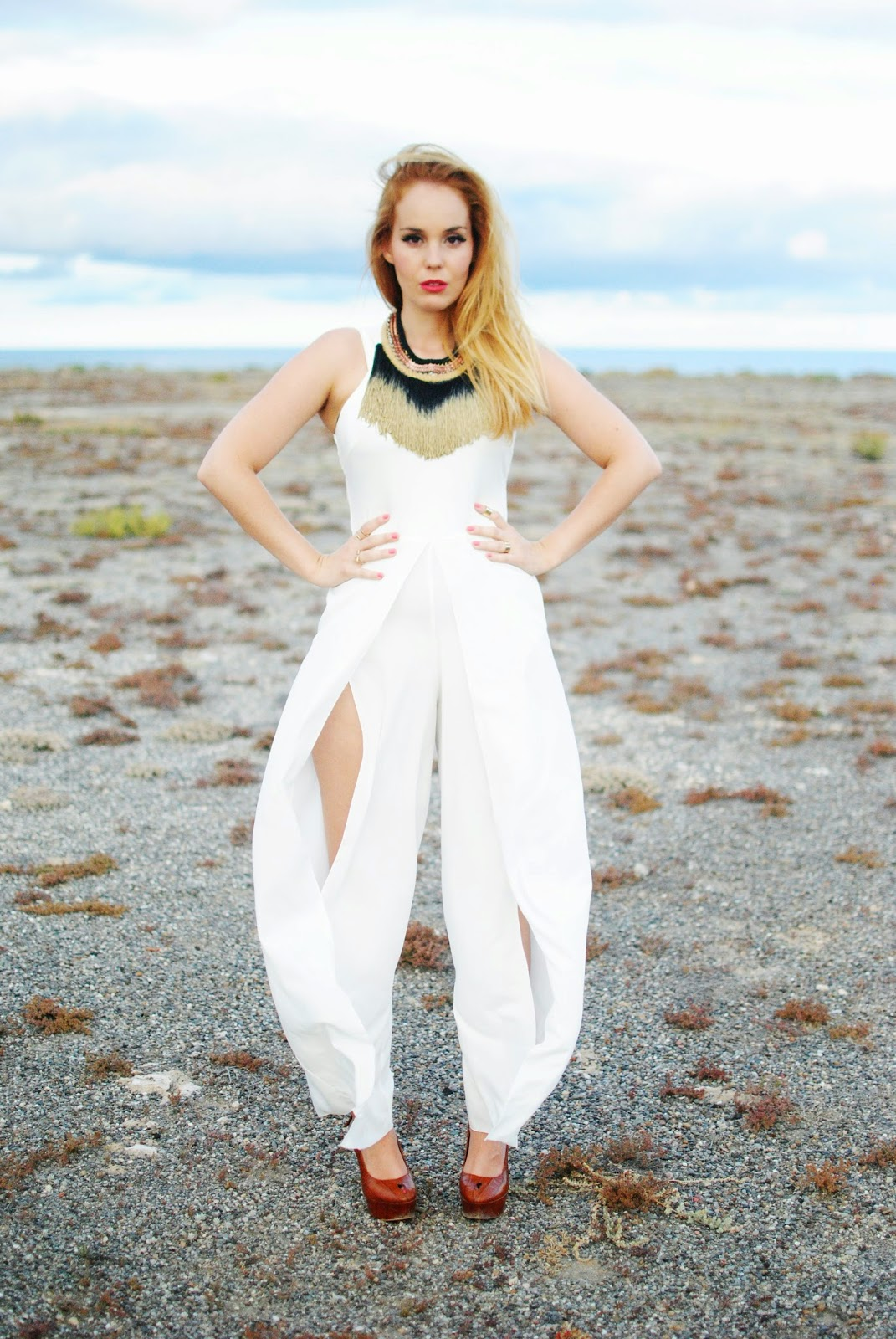 nery hdez, jumpsuits, axparis, total white, adolfo dominguez, fringes necklace, san edelman
