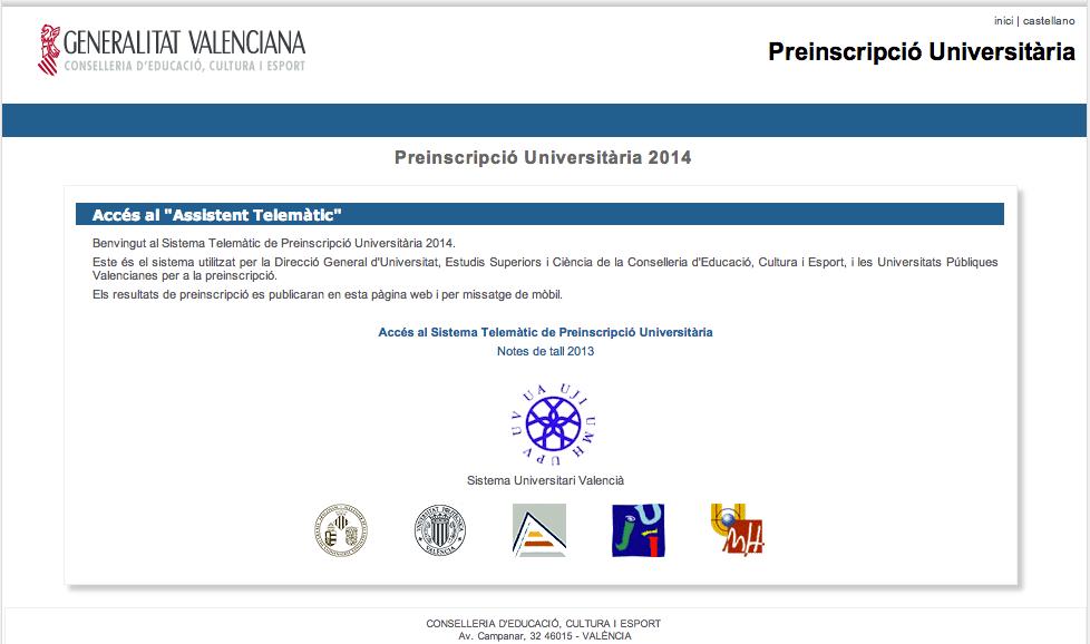 http://www.preinscripcion.gva.es/