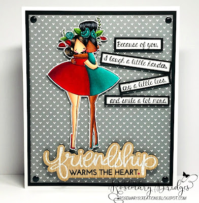 WWW.STAMPINGBELLA.COM. RUBBER STAMP USED: CURVY GIRL BESTIES. CARD BY ROSEMARY BRIDGES