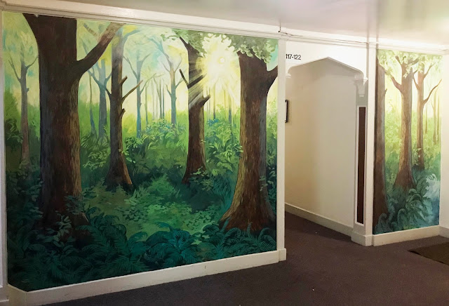 forest mural, portland mural, portland muralist, tree mural, oregon mural, portland artist, portland oregon art, portland oregon muralist