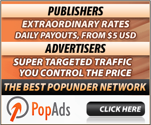 worlds largest Popup, popunder ad network highest rates