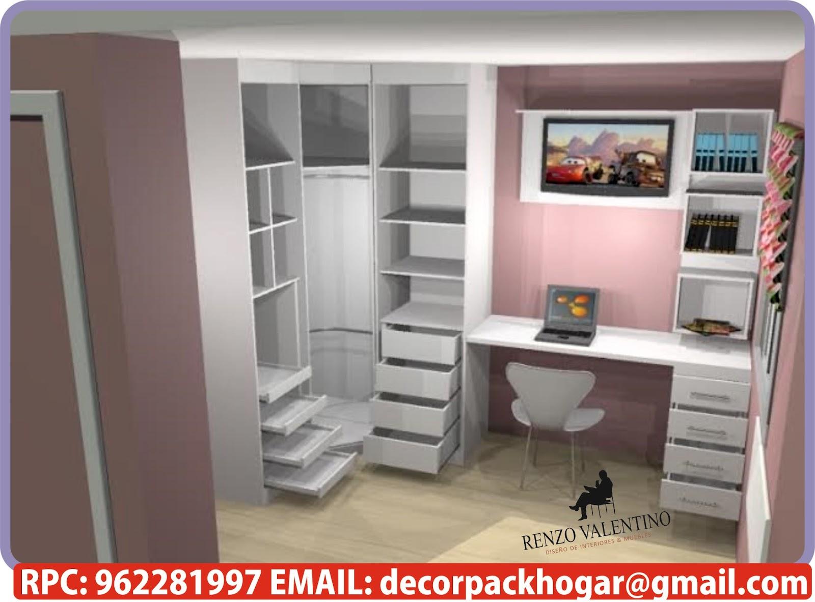 Dise os fabricacion de closet cocina y muebles de oficina rpc 962281997 modelos de closet en - Modelos de roperos empotrados ...