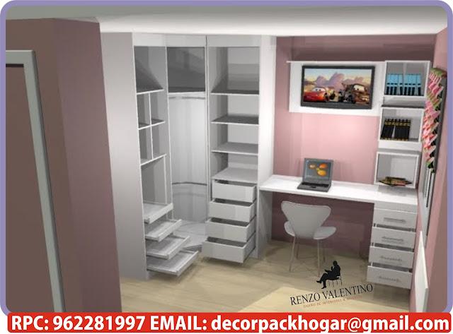Dise os fabricacion de closet cocina y muebles de oficina for Muebles de oficina olivos