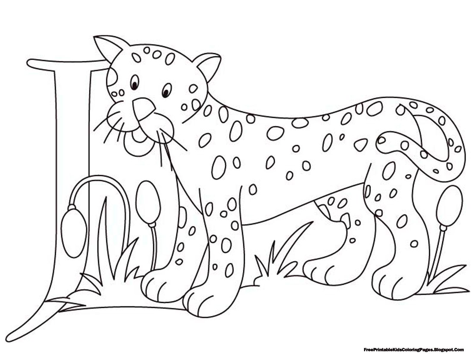 Jaguar Alphabet Coloring Pages Printable
