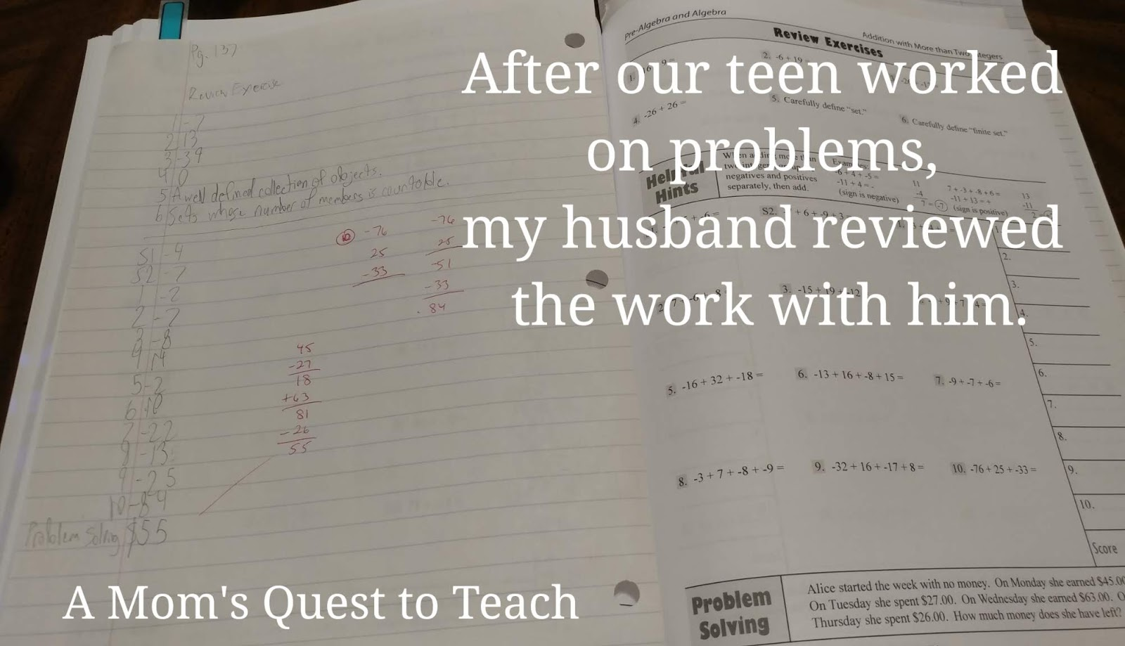 A Mom S Quest To Teach Reviewing Math Refresher For Adults From Math Essentials
