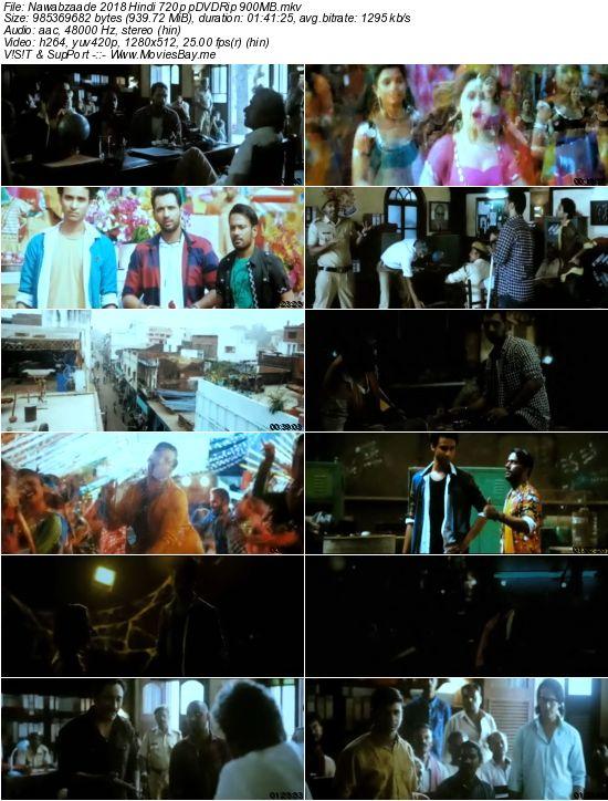 Nawabzaade 2018 Hindi 720p pDVDRip 900MB worldfree4u