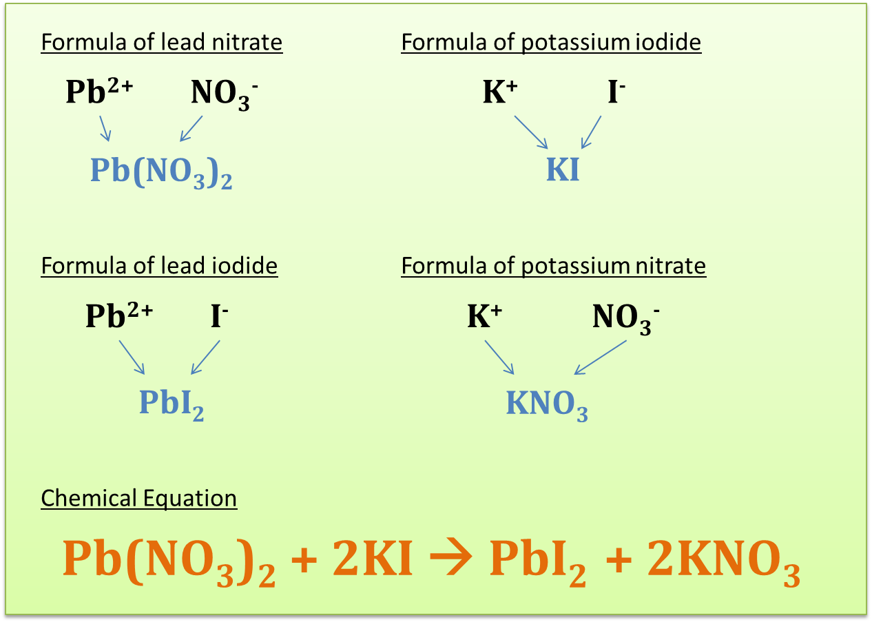 what is the chemical formula for lead iodide