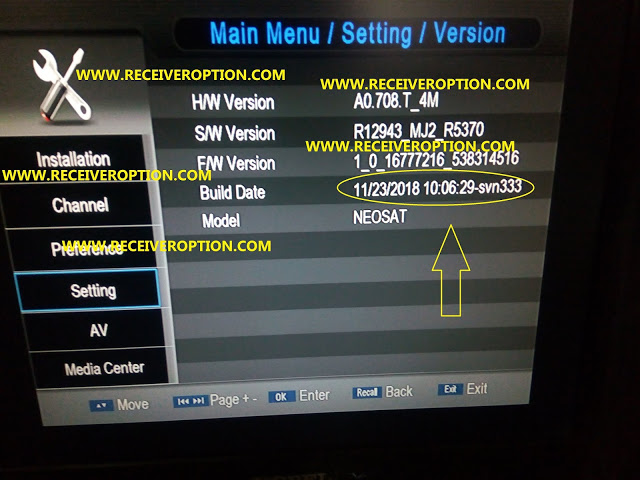 NEOSUT 888 HD RECEIVER POWERVU KEY NEW SOFTWARE