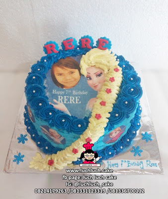 Kue Tart Edible Image Frozen Elsa