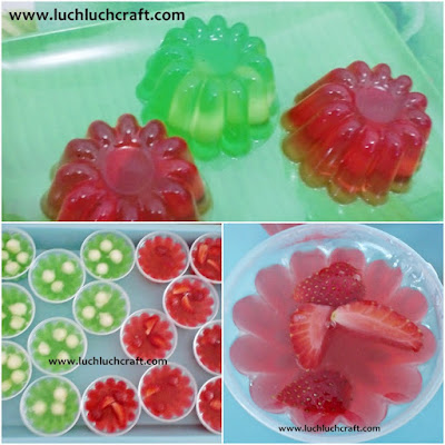 jelly buah strawberry melon