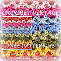 free crochet patterns, vintage, clusters, v-stitch, how to crochet,