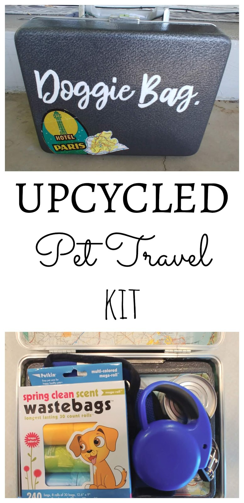 Upcycled Pet Travel Kit