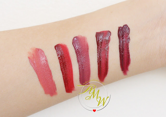 swatch photo of Sleek Matte Me Review in Bittersweet, Fired Up, Old Hollywood, Velvet Slipper and Vino Tinto