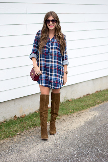 How To Style Over The Knee Boots with Dresses - Chasing Cinderella