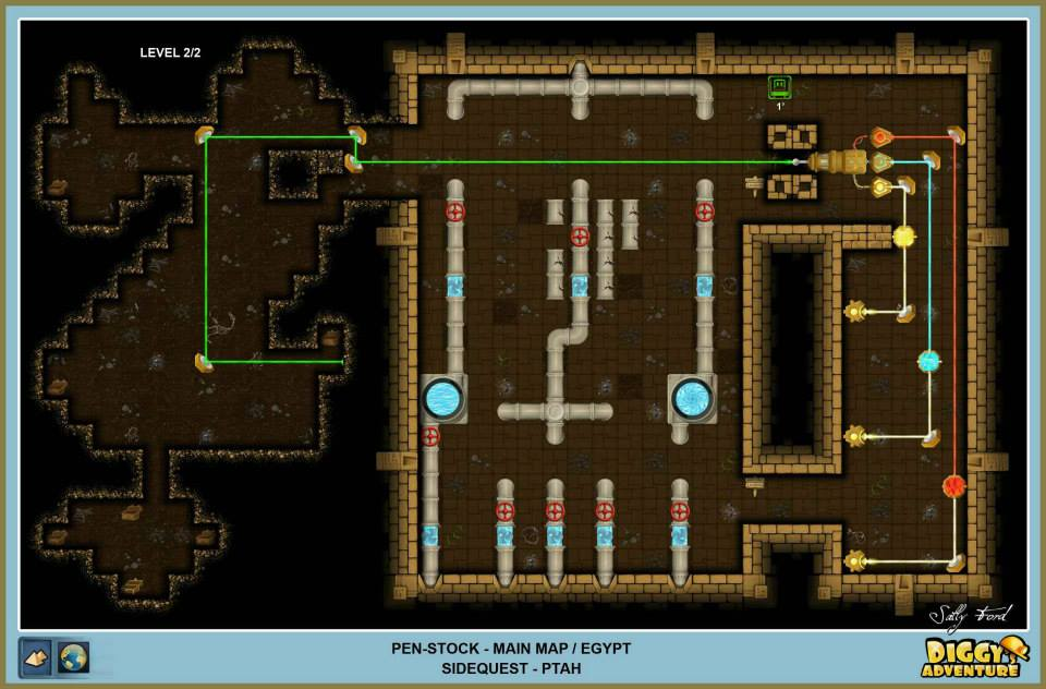 Diggy's Adventure Walkthrough: Egypt Main / Pen Stock