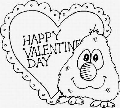 Free valentines coloring pages for Be my valentine coloring pages