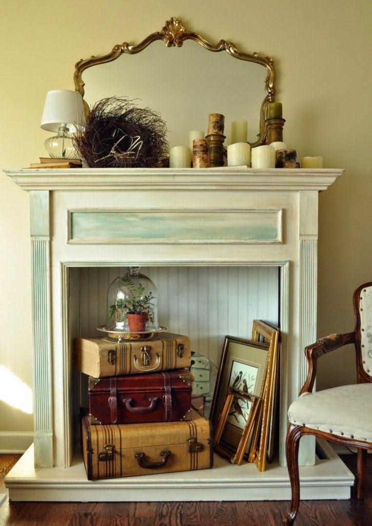 20 lareiras falsas decora o e inven o - Fabulous ideas of fake fireplace decoration ideas ...