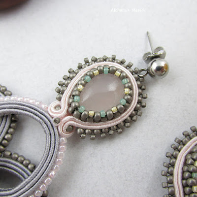 Soutache Earrings - Pastel sky.