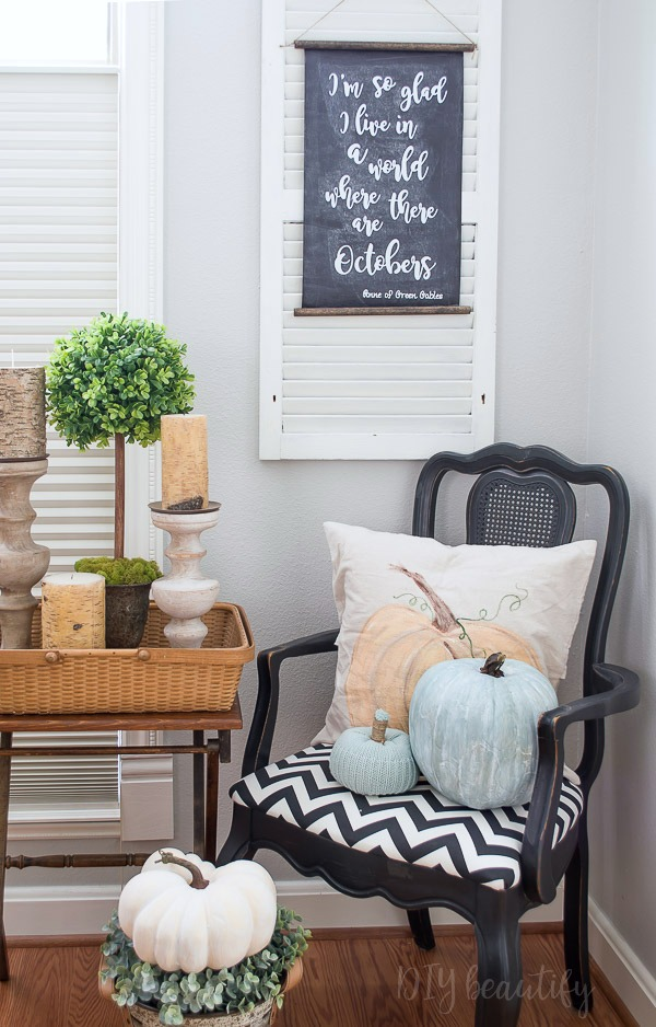 fall dining room vignette