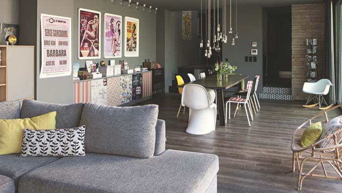 Keltainen talo rannalla tummia s vyj modernia ja rustiikkia - Maison de famille meubles ...