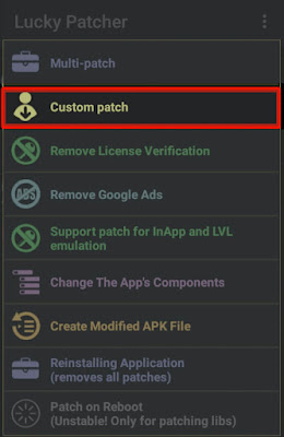 Click on Custom Patch