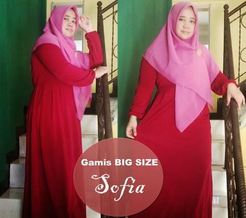 model baju muslim gamis orang gemuk