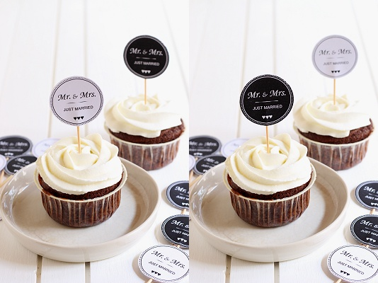 DIY-Tutorial Cupcake und Muffin Picker - Template/Vorlage Mr. und Mrs. SW