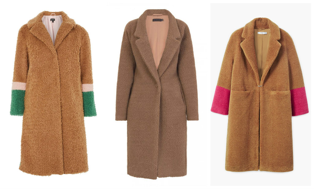 teddycoat, topshop teddy coat, mango, lavish alice,