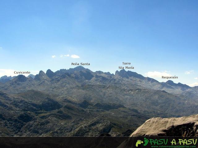 Vista desde la Jascal del Cuvicente, Peña Santa y Requexón