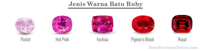 Jenis Warna Batu Ruby