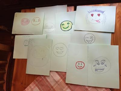 Sunnuntain ohjelmassa oli lyhyt asiapitoinen osuus, jossa pohdittiin mm. minkälainen olisi pamilainen nuori emojilla kuvattuna. Lopputuloksia kuvassa!