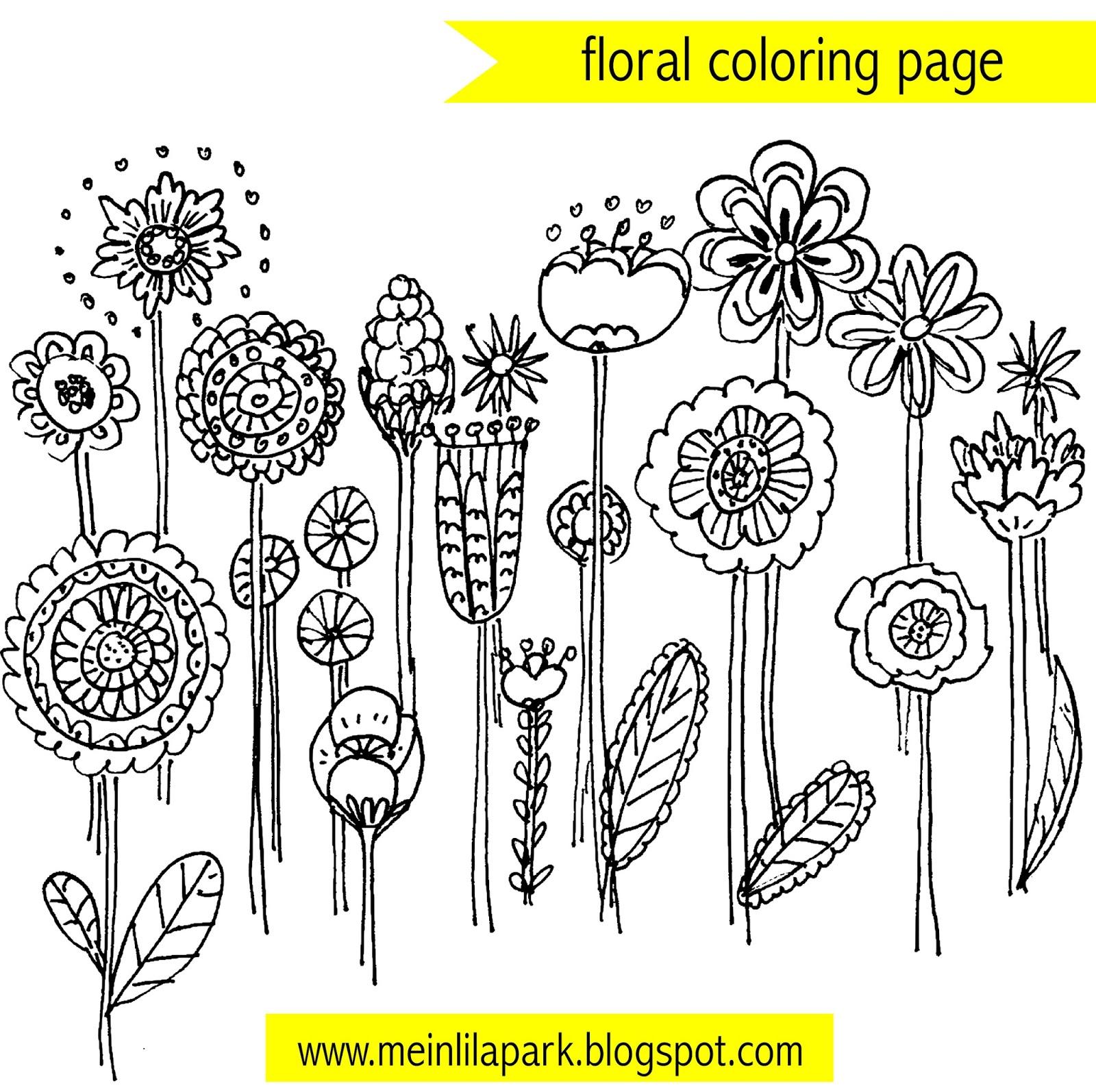 free printable floral coloring page doodles ausmalseite