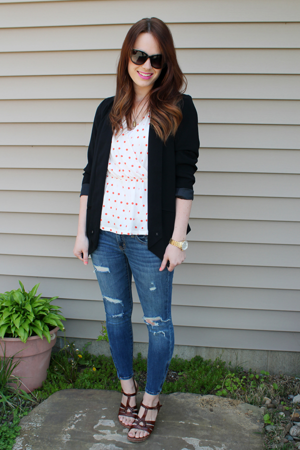 The Forge Style Files Polka Dots Skinny Jeans And A Blazer