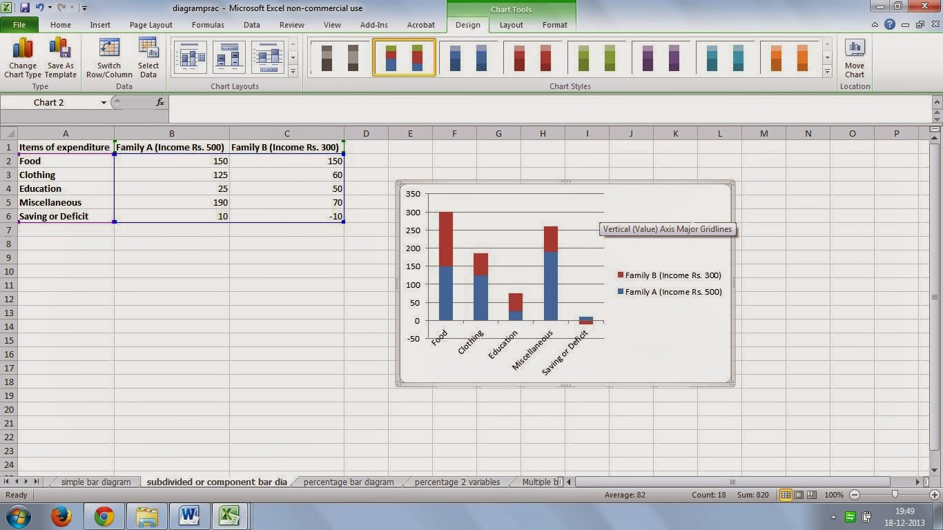 stepping forward to learn excel daily  : Sub - Divided or