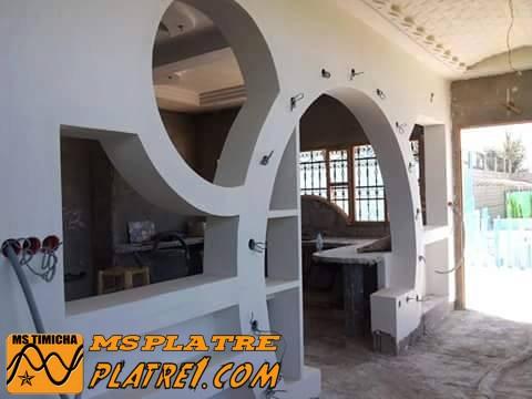 Arc en platre pour la cuisine decoration platre plafond for Plafond de cuisine en platre