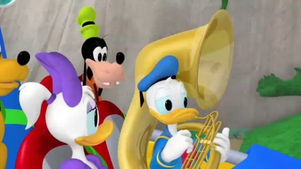 GOOFY: Looks like Donald's all tuba'd out