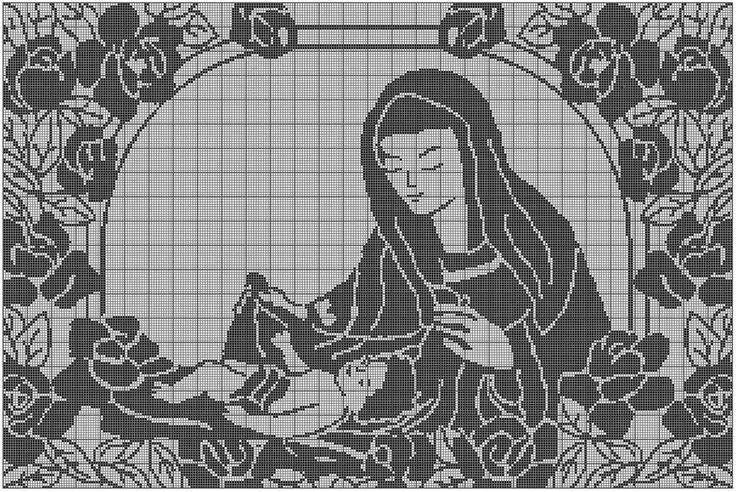 Hobby Lavori Femminili Ricamo Uncinetto Maglia Filet Madonna