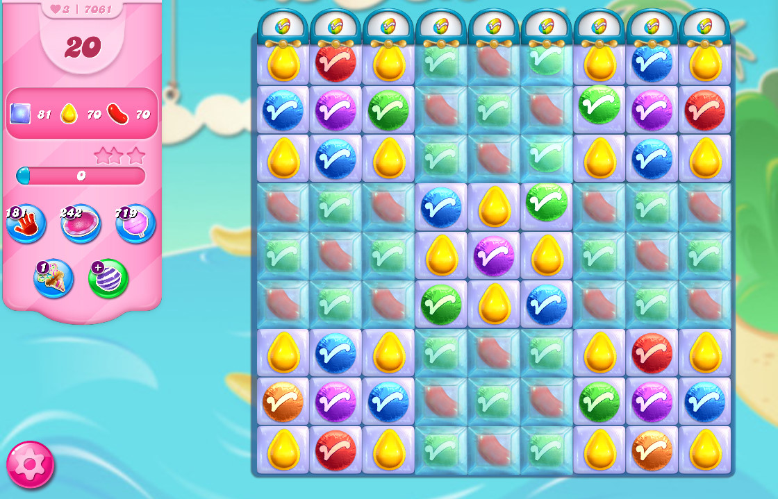 Candy Crush Saga level 7061