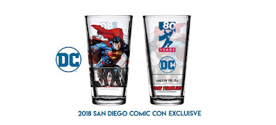 San Diego Comic-Con 2018 Exclusive Superman 80th Anniversary 'Toon Tumbler Glass by PopFun