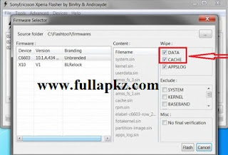 Tutorial Cara Flash Sony Xperia via PC Menggunakan Xperia FlashTool